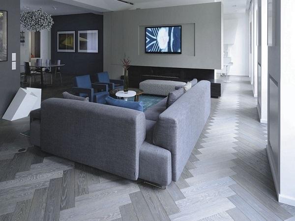 Cách phối màu gạch lát nền với màu tường cho không gian hẹp