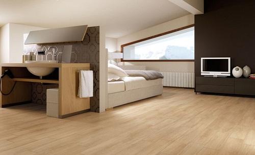 gạch lát nền màu gỗ 1