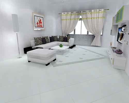 Tư vấn: Gạch nền nhà màu trắng nên sơn tường màu gì?