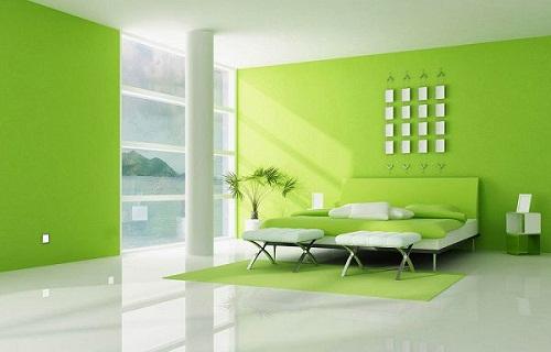 tường màu xanh nên lát gạch màu gì 3