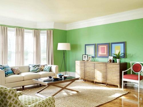 Tường màu xanh nên lát gạch màu gì là đẹp nhất?