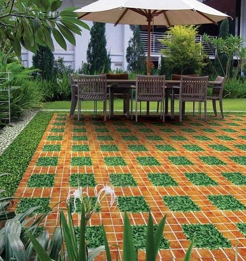 Gạch cỏ lát sân – Mang thiên nhiên vào các không gian sống