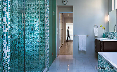 Gạch mosaic phòng tắm 2019