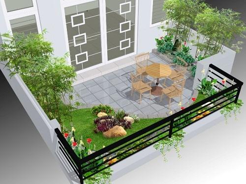 Ý tưởng thiết kế gạch lát nền sân thượng ấn tượng nhất cho các gia đình