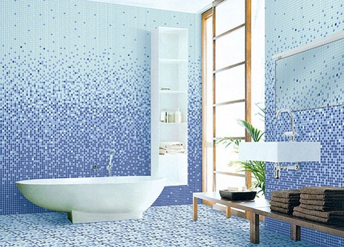 Gạch Mosaic ốp phòng tắm cho các không gian độc đáo, ấn tượng