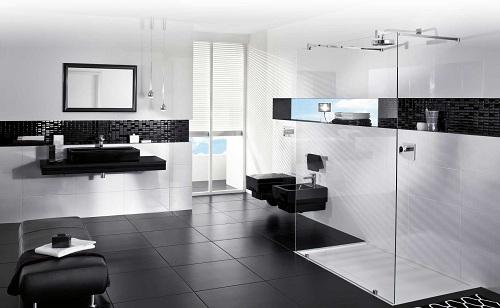 Gạch ốp tường màu trắng tạo nét ấn tượng cho các không gian