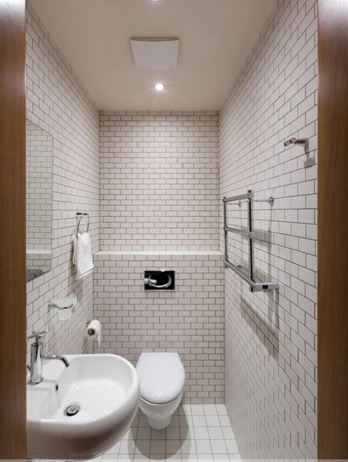 Thiết kế nhà vệ sinh nhỏ đẹp nên dùng gạch ốp lát thế nào?