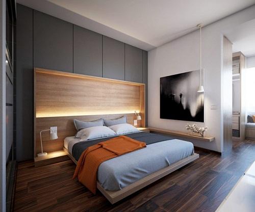 phòng ngủ màu xám 1