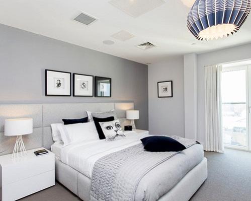 Thiết kế phòng ngủ màu xám đầy sang trọng, hiện đại cho các gia đình