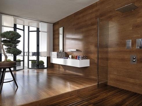 Gạch giả gỗ ốp tường – Vật liệu trang trí lý tưởng cho kiến trúc hiện đại