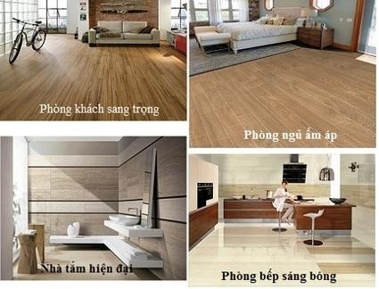 Gạch giả gỗ có khả năng ứng dụng đa dạng