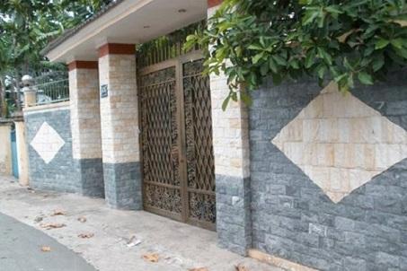 Mẫu gạch ốp cổng bao quanh nhà chất lượng