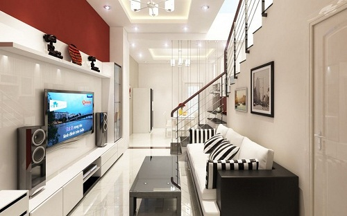 Bỏ túi kinh nghiệm chọn gạch lát nền phòng khách nhà ống cho các gia đình