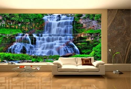 gạch ốp tường 3d phòng khách-5