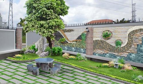 gạch lát sân vườn mikado