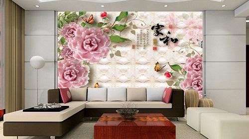 gạch ốp tường 3d phòng khách-10
