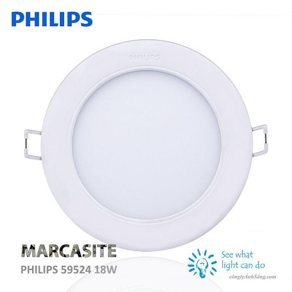 Đèn LED âm trần 18w Marcasite 59524 Philips – Hiện đại, tinh tế